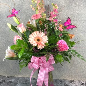 beautiful pink flower arrangement | Spring Creek Design LLC | Gillette Wyoming