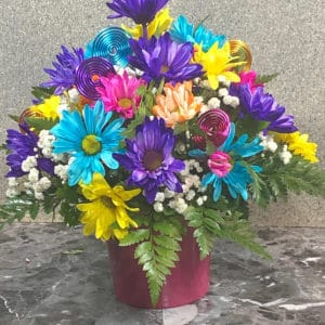 multi colored flowers | spring creek designs