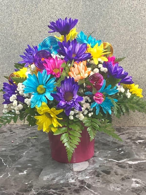 multi colored flowers | spring creek designs