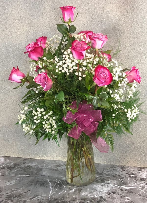 lavender roses in vase | spring creek designs